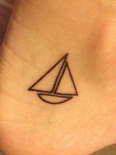 Sailboat tattoo ⛵️ Dainty Tattoos, Small Tattoos, Cool Tattoos, Ship Tattoos, Tiny Tattoo, Sailing Tattoo, Sailboat Tattoos, Nautical Tattoos, Ankle Tattoo Small