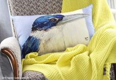 Kingfisher blues - Oblong Pillow by Tracey Lee Cassin Design Crate Side Table, Halloween 9, Siamese Fighting Fish, Diy Buttons, Duck Egg Blue, Kingfisher, Decor Styles, Decorative Pillows, Paint Colors