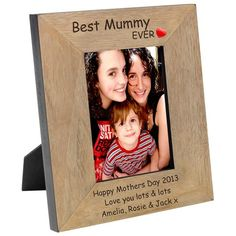 Engraved Wood Photo Frame - from Personalised Gifts Shop - ONLY Engraved Frames, Engraved Gifts, Personalized Photo Frames, Personalised Gifts, Happy 30th Birthday, Photo Picture Frames, New Baby Gifts, Boy Gifts, Home Wedding