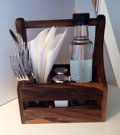 Condiment Holder by CaulfieldBoards on Etsy, €24.60 (Small Wood Crafts To Sell)