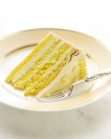 Genoise Passion fruit swiss meringue cake, looked yummy on her baking show!