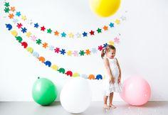 itkids | Angesagte Kinderzimmer Dekoration, Filz Girlande Sterne, Stars, 250 cm, von Global Affairs