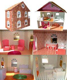 tuto maison de poupee Diy Dollhouse, Dollhouse Furniture, Dollhouse Miniatures, Scrap, Diy Games, Barbie World, Kids Corner, Kids And Parenting, Diy For Kids