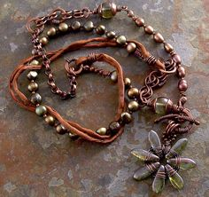 Copper and green pearls by Lune2009, via Flickr