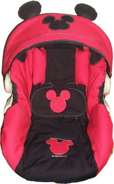 Mickey mouse infant car seat cover any model by dreammakersdesign,