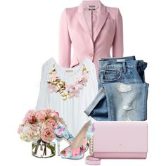Pretty Pink by sophia561 on Polyvore featuring мода, Michael Kors, Alexander McQueen, GUESS, Kate Spade, BaubleBar, Diane James and Gap