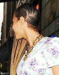 Beyonce braids...I have been dying to see the left side of this style!!!!!!