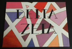Delta Zeta / DZ Crafts / Sorority canvases // DZ Canvas using washi tape, paint, and sharpies! // easy canvas ideas / Big and little crafts