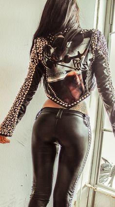 Image of TOXIC VISION Judas Priest studded biker jacket