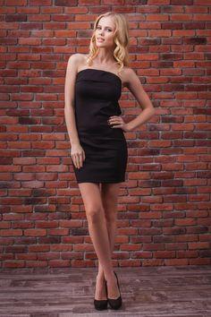 0ed4874a16d Классическое чёрное платье-бандо для ношения как самостоятельно