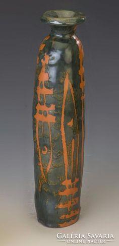 Gorka Lívia váza 35cm magas, 50ezerért kelt el. Ceramics, Artwork, Design, Home Decor, Ceramica, Homemade Home Decor, Work Of Art, Ceramic Art, Clay Crafts
