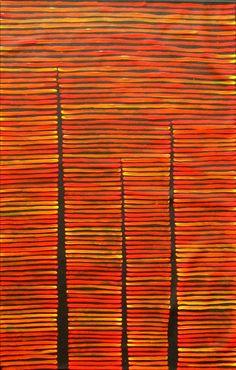 Aboriginal Artwork by Adam Reid. Sold through Coolabah Art on eBay. Cataogue ID 11236