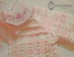 Casaquinho lã para bebê feito a mão