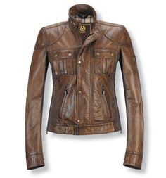 Belstaff Womens Leather Jacket Brown. Makes me think of Ruby from Supernatural