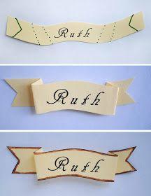 zakka life: Craft: Mini Wreath Place Card Holder