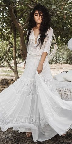 greek wedding dresses Discount Flowing Flare Greek Goddess Wedding Dresses 2018 Inbal Raviv Crochet Lace Holiday Summer Beach Country Boho Bridal Wedding G Greek Wedding Dresses, Wedding Dresses 2018, Bohemian Wedding Dresses, Hippie Dresses, 2017 Wedding, Lace Wedding, Goddess Wedding Dresses, Bohemian Bridesmaid, Dresses Dresses