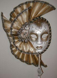 Masquerade maskfancy Dress Party-BRONZO E ORO stile veneziano