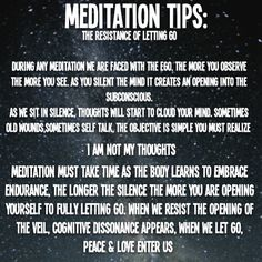Meditation Tips: the resistance of letting go