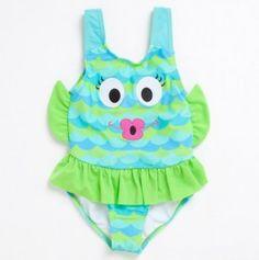 Little Girl Fish One Piece Swim (so adorable!!)