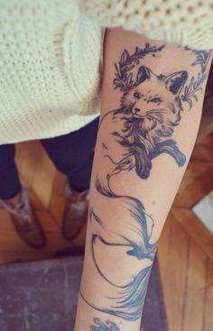 tattooed fox | Raposa: É inteligente ágil e encantadora. Símbolo de esperteza. um ...