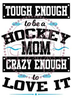 Tough Enough to be a Hockey Mom SVG Studio by EightHeartDesigns