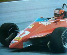 Gilles Villeneuve 1982 Ferrari Racing, Ferrari F1, Belgian Grand Prix, Gilles Villeneuve, Fallen Heroes, F1 Drivers, Vintage Racing, Formula One, Auto Racing