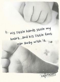 """Tattoo idea! With hand print and foot print! except with """"Her"""" instead :)"""