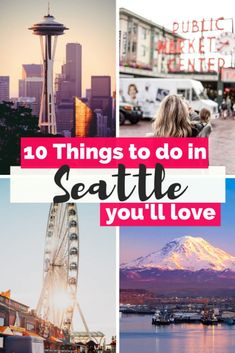 Looking for the Best Things to do in Seattle? Discover the top Unique & Cool things to do in Seattle, from Pike Place Market to Seattle Space Needle & more! Seattle Travel Guide, Usa Travel Guide, Travel Blog, Travel Usa, Travel Tips, Foodie Travel, Beach Travel, Canada Travel, Travel Packing