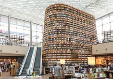 Starfield Library - One-Of-A-Kind Public Library With Bookshelves In Seoul Seoul Travel Guide, Hotel Room Workout, Buy Airline Tickets, Library Pictures, Library Architecture, Italy Travel Tips, Romantic Vacations, Business Travel, Places To See