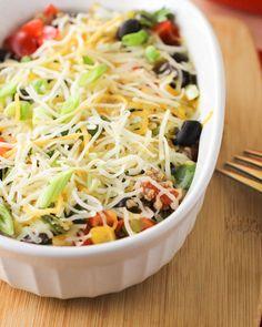 Mexican Quinoa Casserole! Lots of veggies, plenty of quinoa. #quinoa