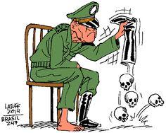 Relatório final da Comissão Nacional da Verdade pedirá punição a quase 400 militares que participaram ou estavam cientes de crimes que violaram os direitos humanos no período da ditadura militar; charge é do cartunista Carlos Latuff