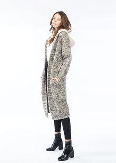 Chunky Hoodie Heather Cardigan-Beige. #lookbym #shawlvest #shawl #vest #ootd #spring #fall #winter #fashion #womensfashion #basic #trend #bestseller #look #Beige #scarf #poncho #glove #hat #fashion #fw18 #lookbym #cashmere #Cardigan #Sweater #Cardigan #Knit #Wool
