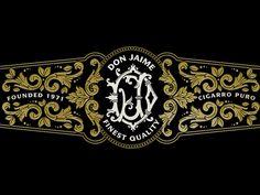 Cigar Label designed by Jamie Stark. Label Design, Logo Design, Typography Letters, Lettering, Volcano Projects, Bottle Design, Bottle Art, Shirt Designs, Logos