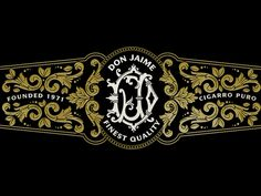 Cigar Label designed by Jamie Stark. Label Design, Packaging Design, Logo Design, Typography Letters, Hand Lettering, Volcano Projects, Cigar Art, Sign Writing, Logo Images