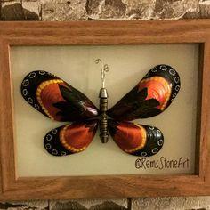 "103 Likes, 4 Comments - RemsStoneArt (@remsstoneart) on Instagram: ""SATILDI, Teşekkürler No:R01976 #kelebek #butterfly #instagood #photooftheday #handmade #stoneart…"""