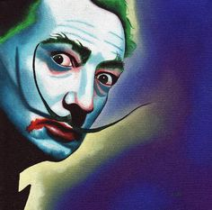 I love this Dali Joker!  Painted by Mike Capp: http://www.yessy.com/mikecappart/