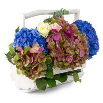 Aranjament floral in cos de lemn Floral Wreath, Wreaths, Flowers, Decor, Floral Crown, Decoration, Door Wreaths, Deco Mesh Wreaths, Decorating