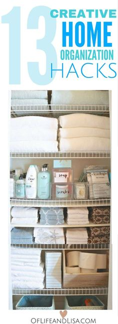 Looking for ways to organize your home? You will love these diy home organization hacks!