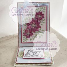 Stamps by Chloe - Fabulous Flower Panel - - As Seen on TV - Chloes Creative Cards Chloes Creative Cards, Stamps By Chloe, Create And Craft Tv, Cardmaking And Papercraft, Paper Crafts, Diy Crafts, Easel Cards, Making Ideas, Birthday Cards