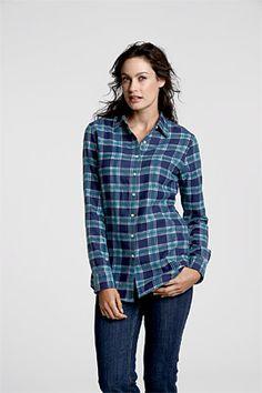 Lands End flannel shirt -- Plaid