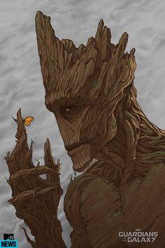 Rocket Raccoon And Groot Star In Mondo Comic-Con Exclusives - MTV: Groot - Artist: Randy Ortiz