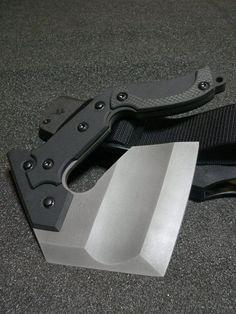 Nemoto Knives - Sai Mon - Its like a hand hatchet :D - DIY Craft's - Mydiddl Tactical Survival, Survival Tools, Survival Knife, Tactical Knife, Tactical Gear, Cool Knives, Knives And Tools, Knives And Swords, Beil