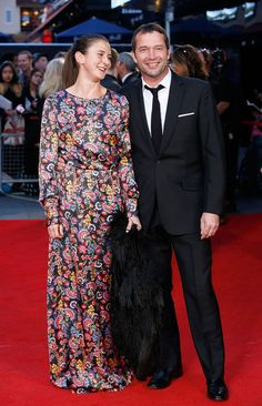 James Purefoy and Jessica Adams attend the High-Rise Screening, during the BFI London Film Festival, at Odeon Leicester Square on October 9, 2015 in London, England.