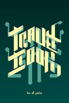 Almost unreadable but pretty - Luis Bonadio Typography Experiment