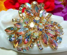 Vintage Juliana Brooch Pin D&E Confirmed AB
