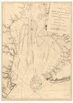 delaware bay de 1779 map revolutionary war survey by british navy des barres v3