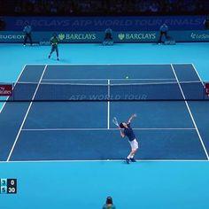 Pinを追加しました!/#atpfinals @domithiem vs @iamgaelmonfils ティエム、ガンガンぶん回すなぁ〜若い^^ 屈指の好カード #tennis