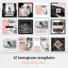 Photography Business Design Social Media Ideas For 2019 Instagram Design, Instagram Feed, Instagram Posts, Web Design, Social Media Design, Modern Design, Freelance Graphic Design, Social Media Template, Portfolio Design