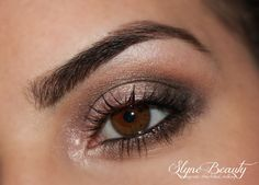 Video tutoriel youtube pour reproduire un smokey eye marron. Maquillage jour ou soirée. Slyne beauty / makeup