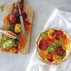 Multicolour tomato tarts